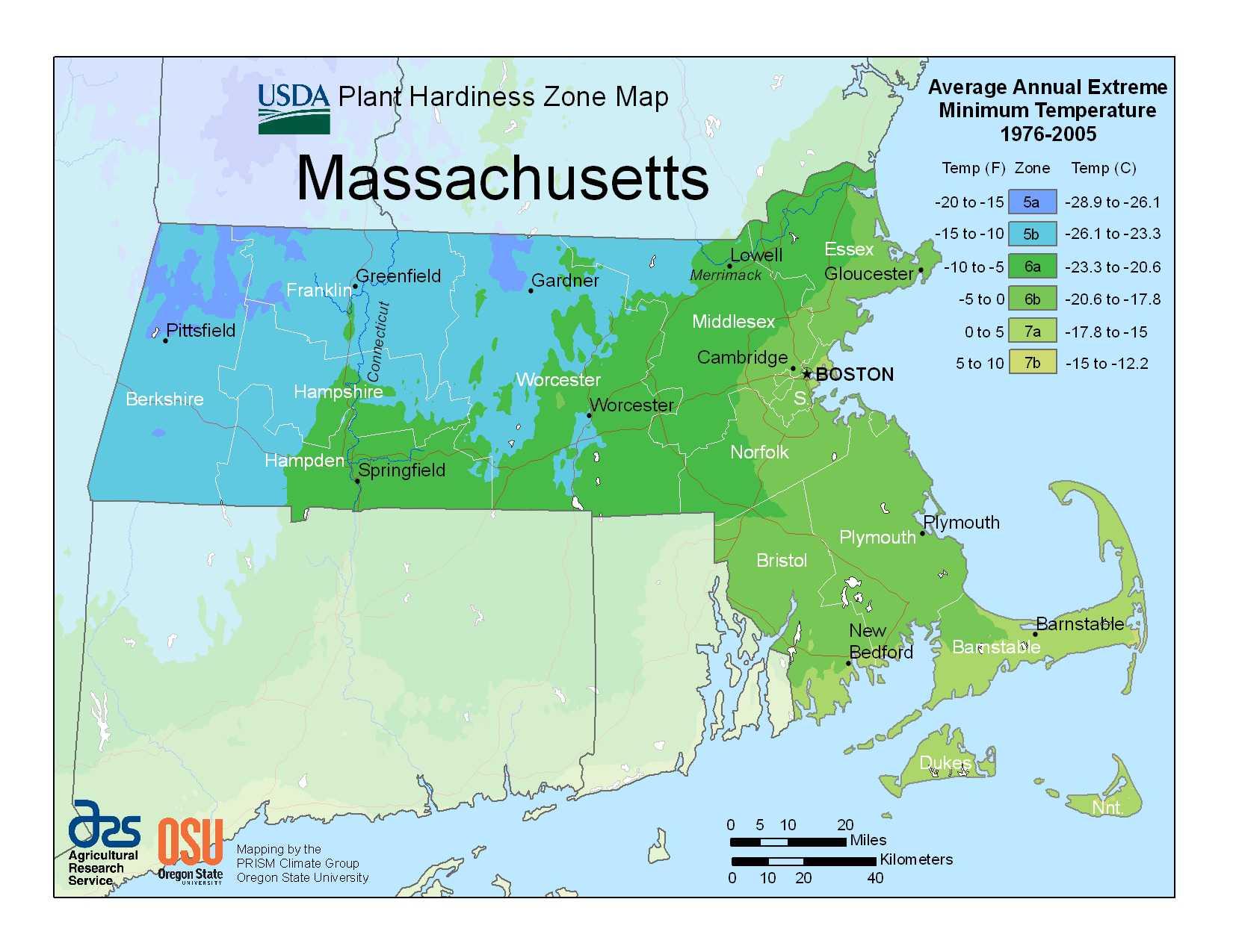Photo of Massachusetts Hardiness Zones