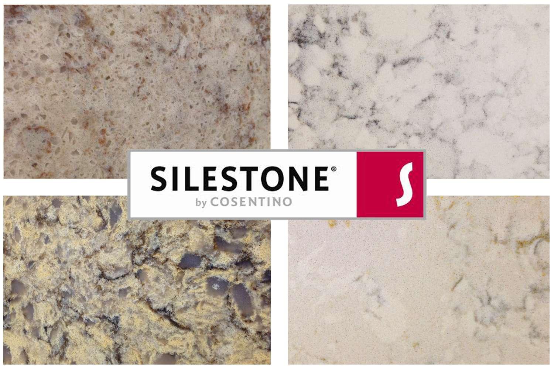 Cuatro colores de cuarzo natural de Silestone