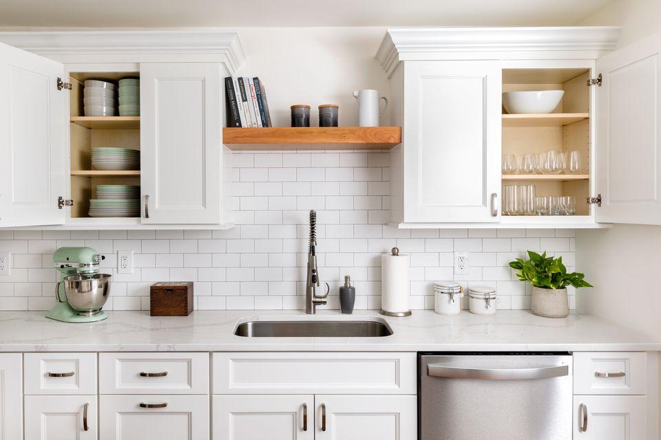 A clean, well-organized kitchen