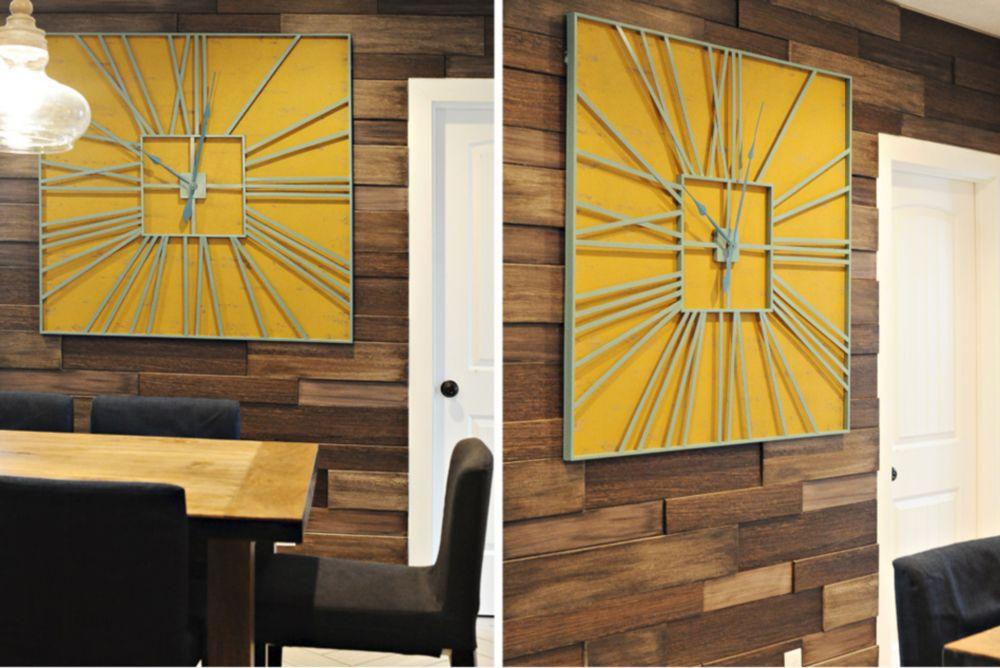 Paneles de pared con textura 3D de madera de haya