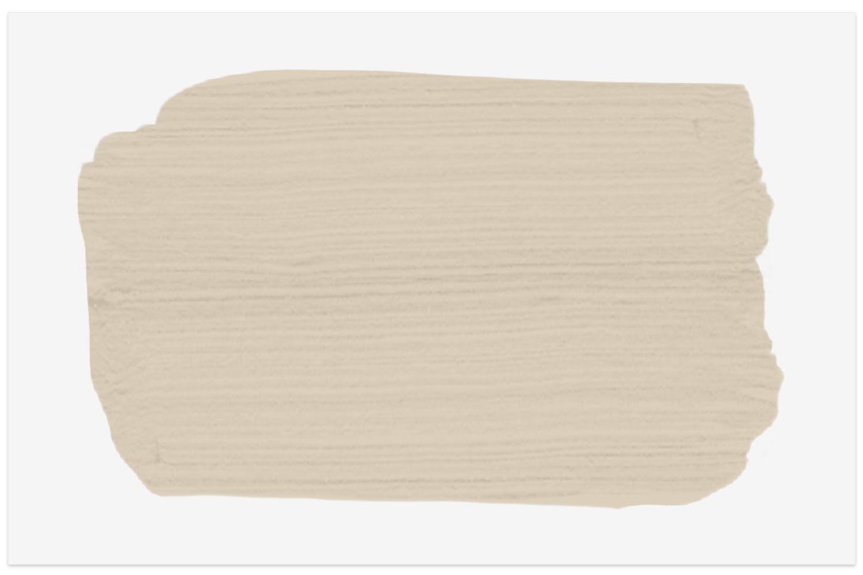 La muestra de color de pintura Spruce en Macrame Beige