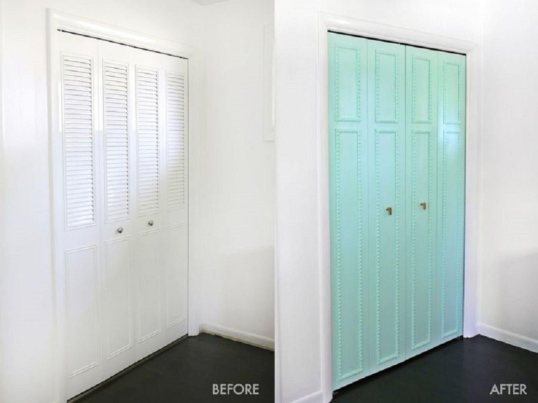 Wood trim on closet door