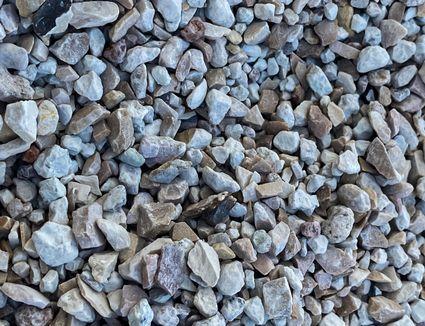 closeup of crushed stone