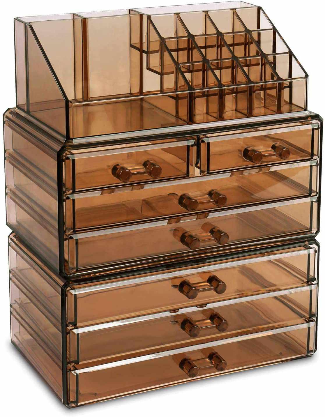 Ikee Design Cosmetics Makeup and Jewelry Storage Case Display