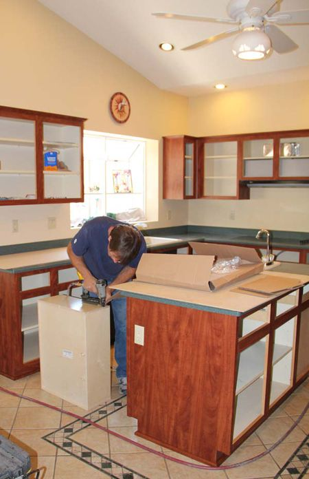 how cabinet refacing works: the basic process