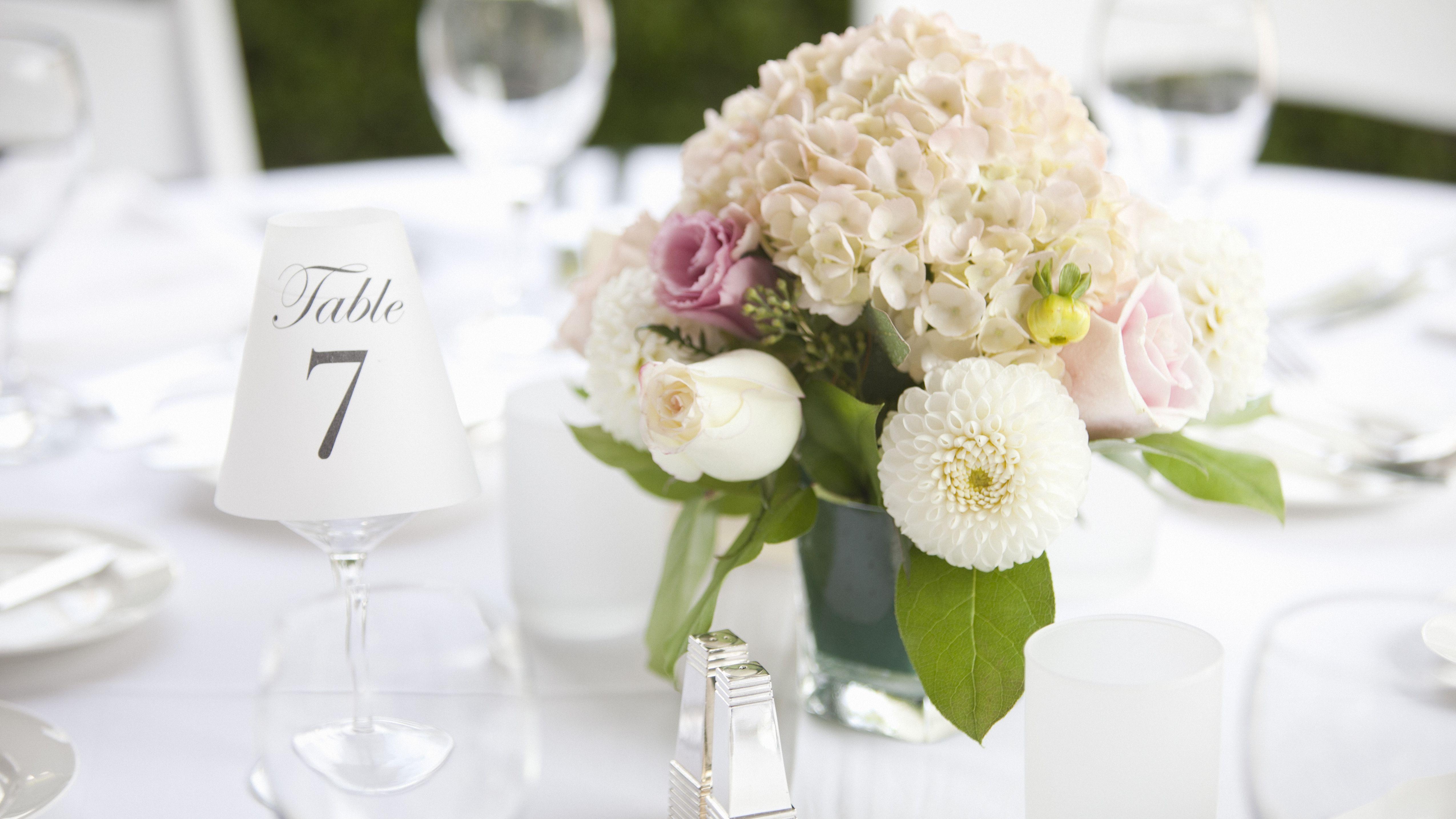 10 Sets of Free, Printable Wedding Table Numbers