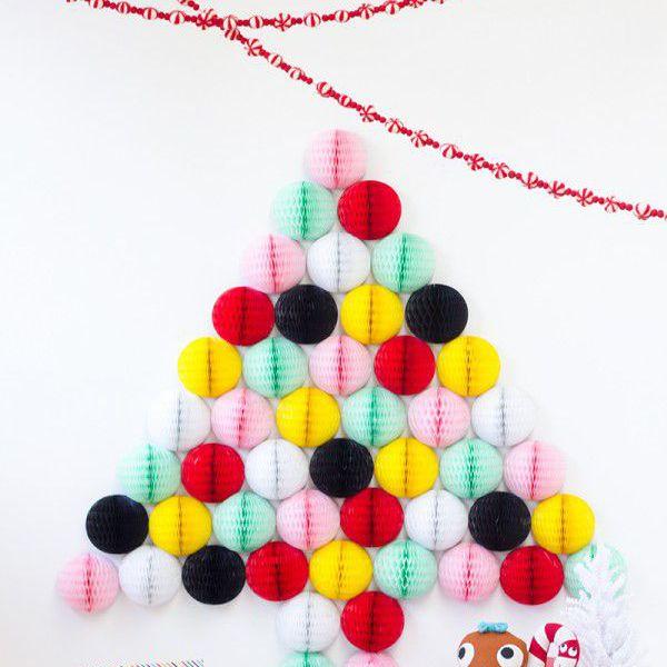 colorful honeycomb christmas tree