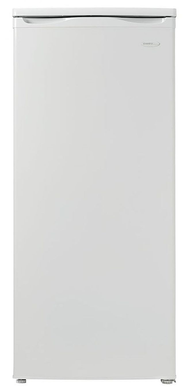 The Danby Designer DUFM059C1WDD 5.9 cu. ft. Manual Defrost Upright Freezer in White is a more affordable option.