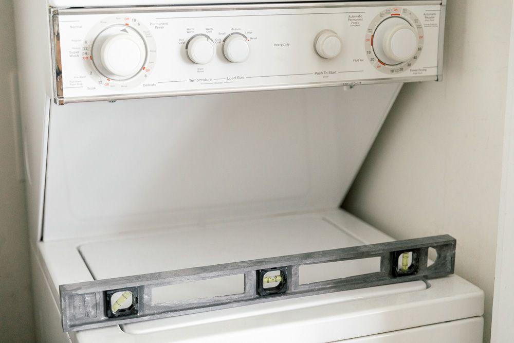 level on a washing machine