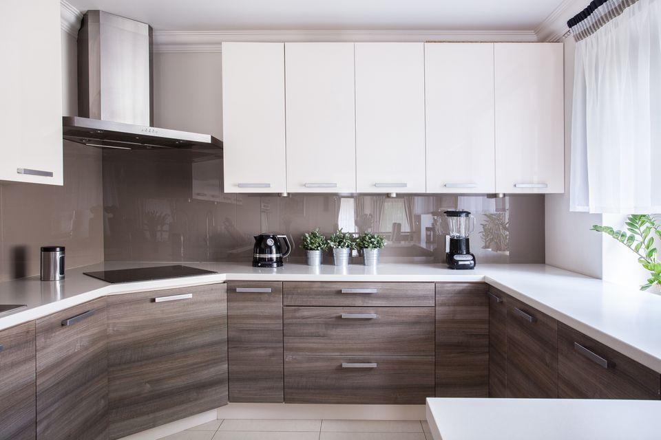 Slab kitchen cabinets