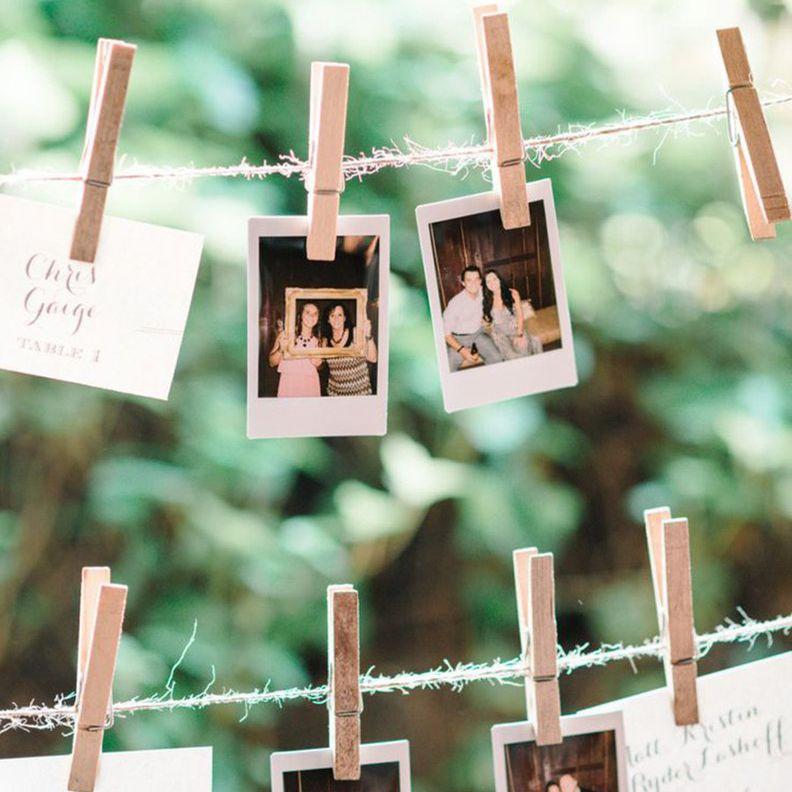 Polaroid photo escort cards