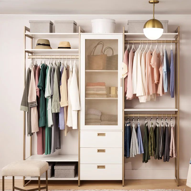The Everyday System Double Hanging & Shoe Storage Closet System