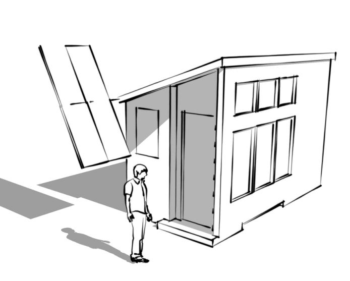 An Ilration Of A Tiny Solar House Design