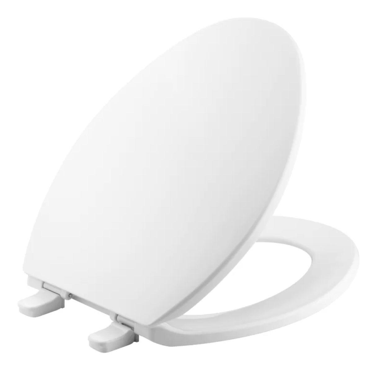 Kohler Brevia Quick-Release Hinges Elongated Toilet Seat