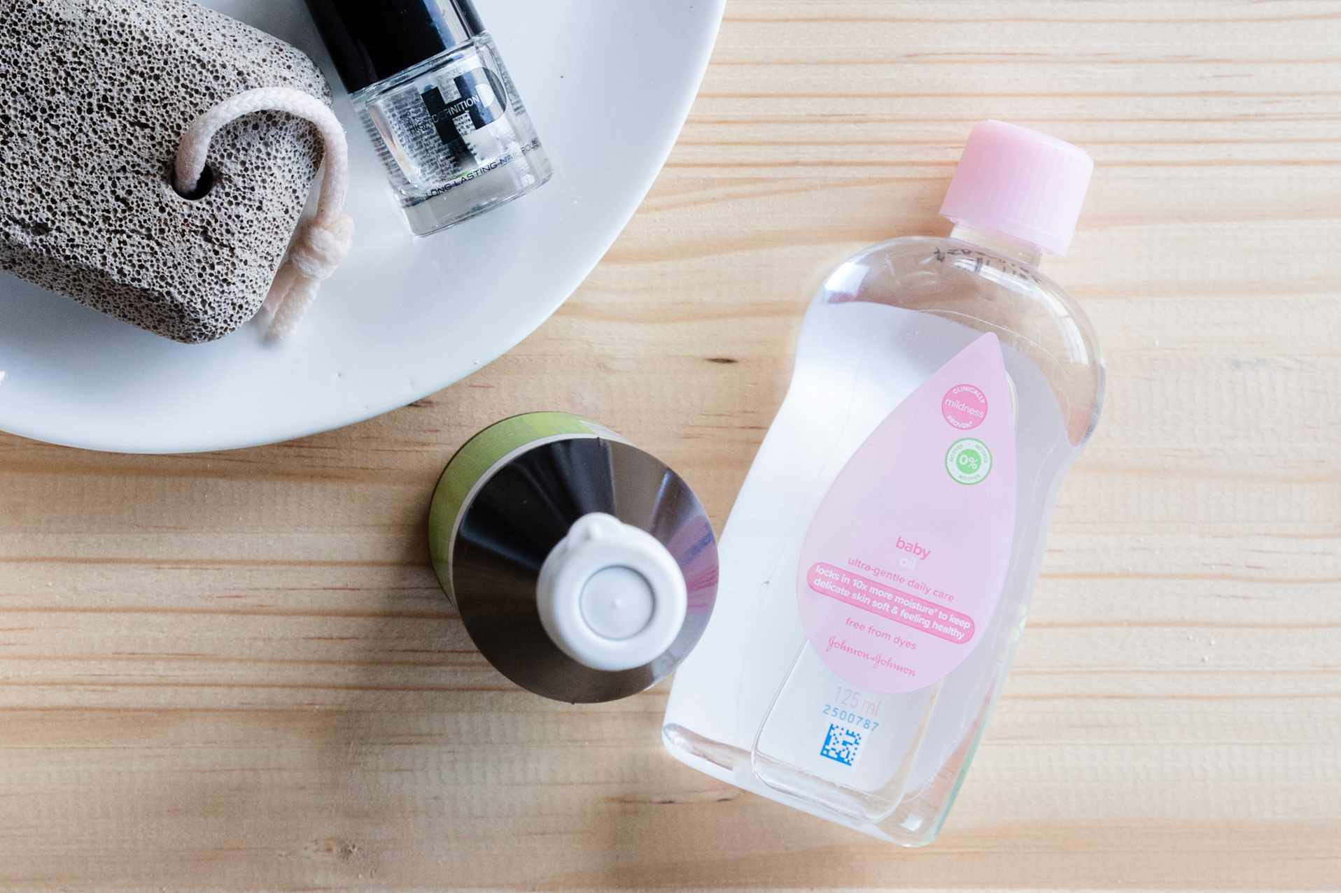 bottle of baby oil