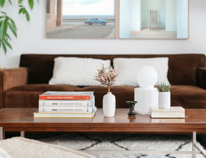 well-styled coffee table