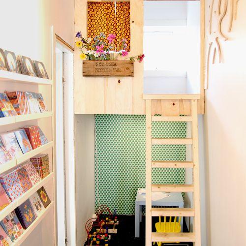 Wooden Book Nook