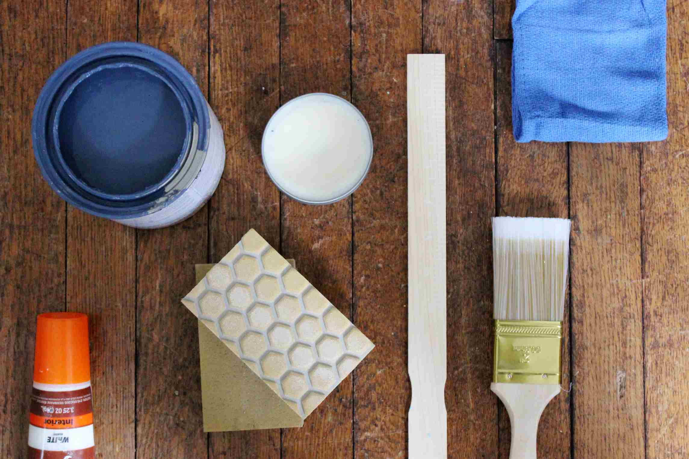 supplies for painting with chalk paint