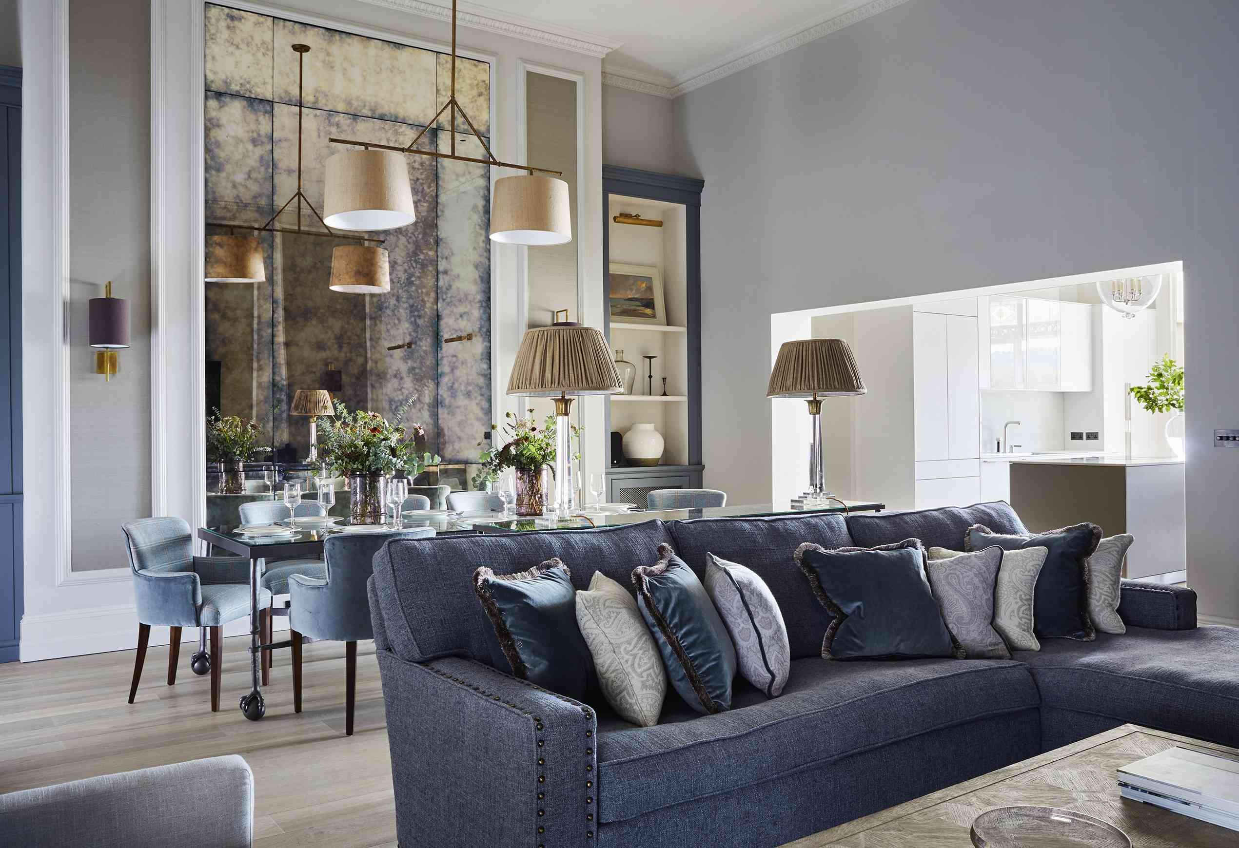 Emma Sims-Hilditch creates zones with furniture in this townhouse