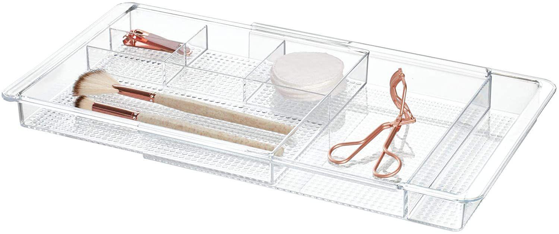 InterDesign Expandable Cosmetics Drawer Organizer Tray