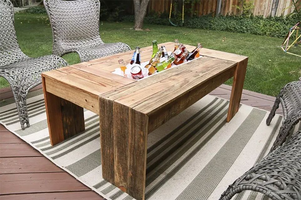 18 Diy Outdoor Table Plans, Wooden Outdoor Table Plans Free