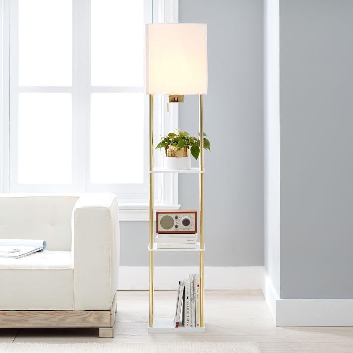 PB Teen Harrison Shelf Floor Lamp