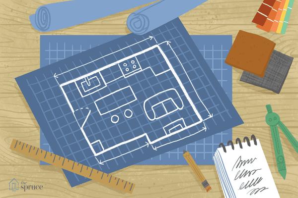small living room floor plan illustration