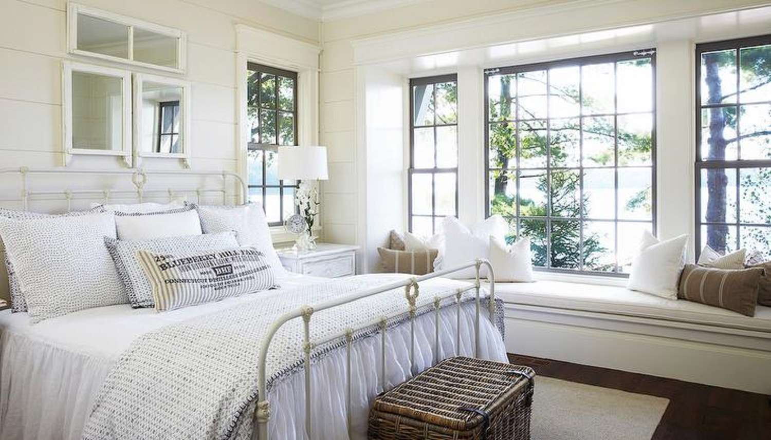Peaceful country bedroom