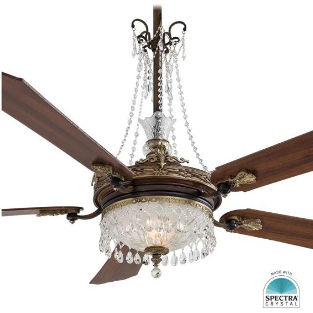 Best Elegant Cristafano Chandelier Ceiling Fan Light Kit
