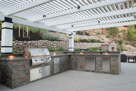 outdoor kitchen grills rustic outdoor kitchen with pergola 50 enviable outdoor kitchens for every yard