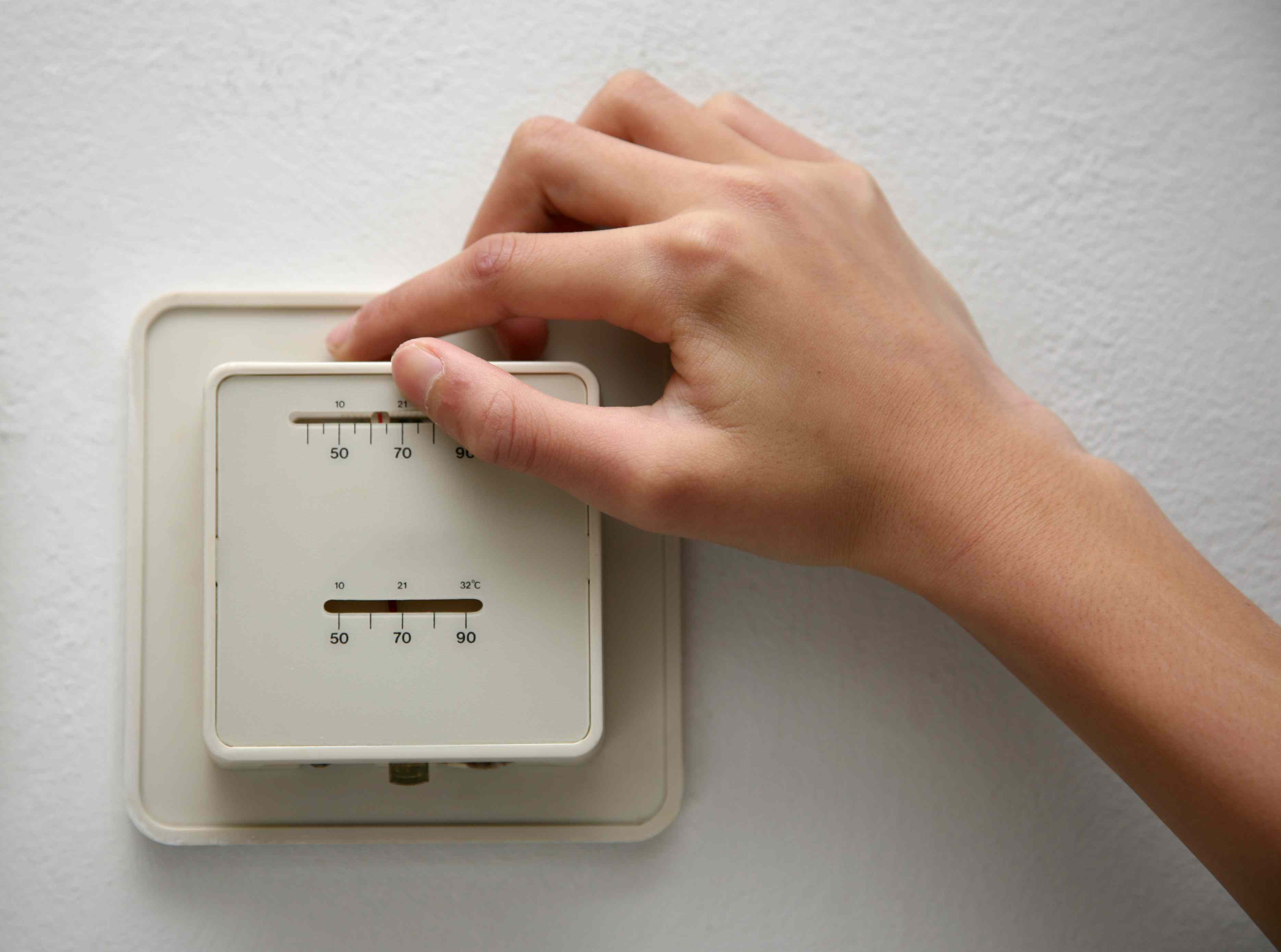 10 Ways To Reduce Your Familys Carbon Footprint Label The Wires Leading Into Old Thermostat Adjusting Temperature On An