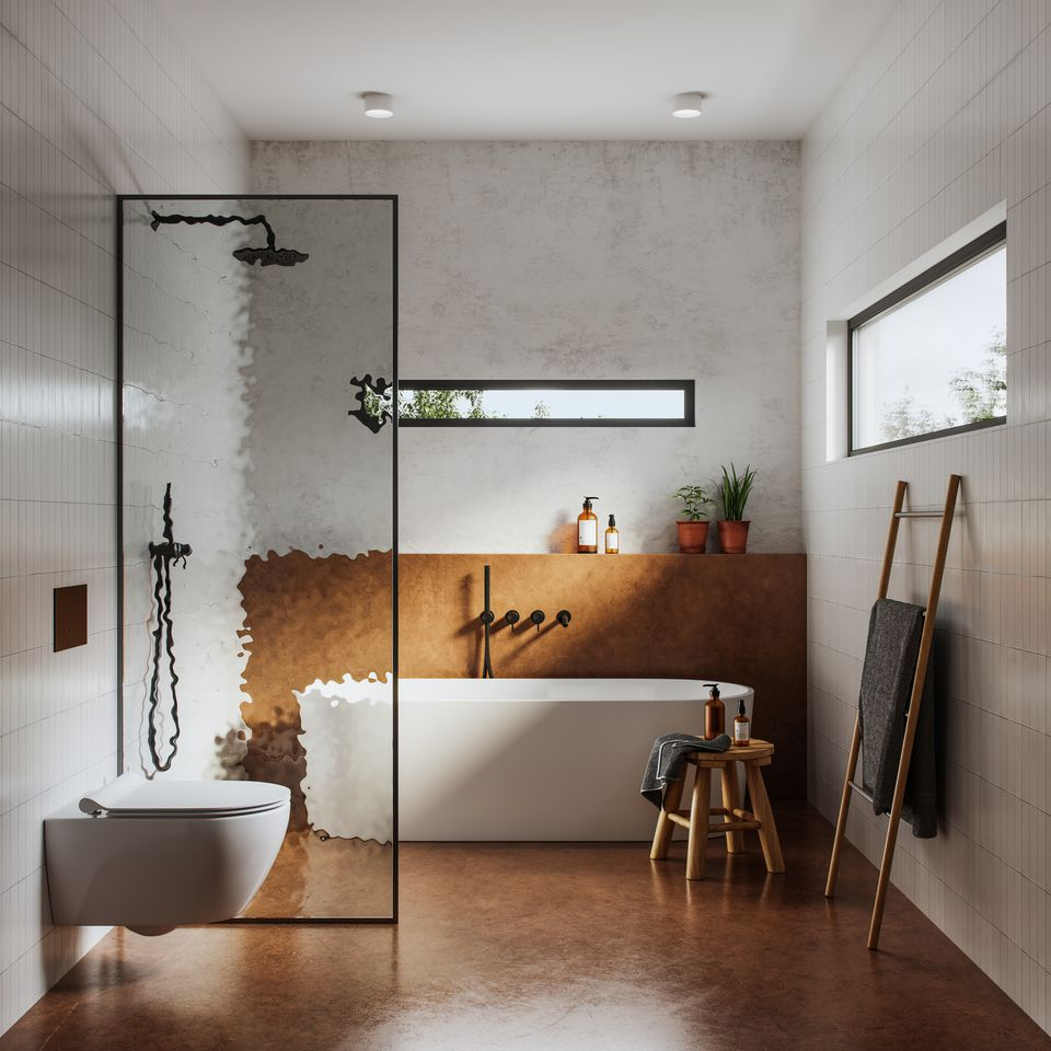 Interior of bathroom in 3d