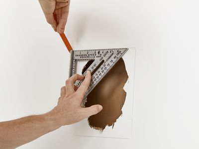 measuring a hole in drywall