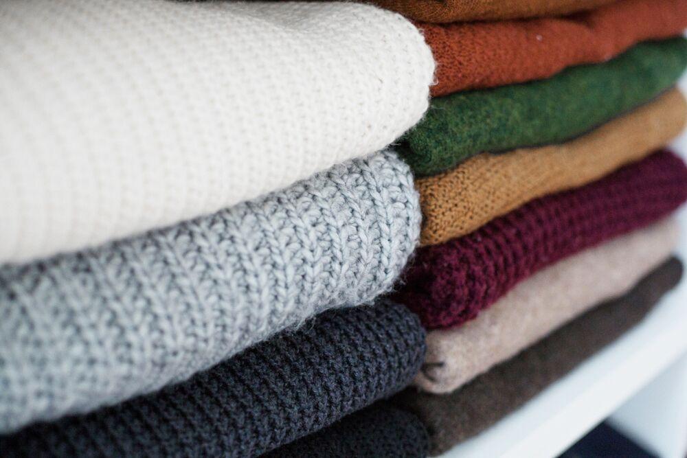 Sweaters neatly folded