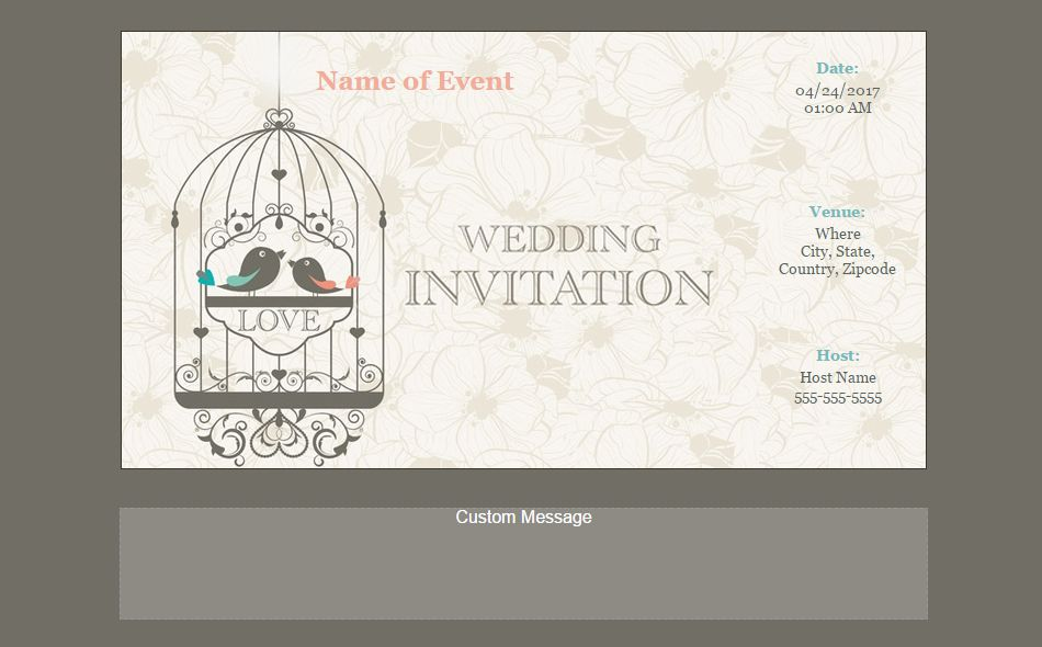 Custom Evite Template | Free Online Wedding Invitations