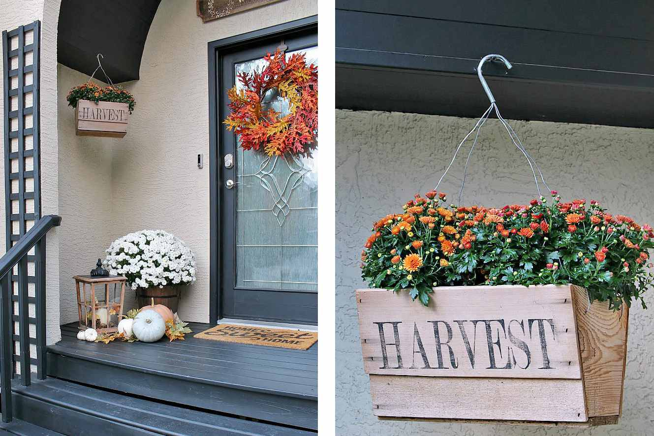 Hanging flowers fall porch