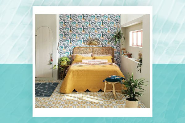 scalloped edge quilt from Justina Blakeney x Opalhouse collection at Target