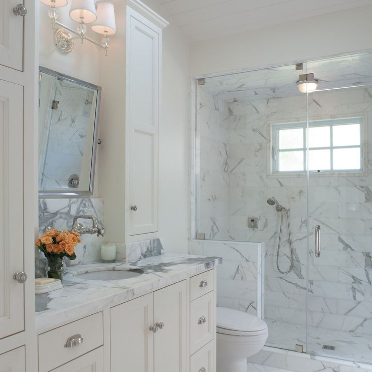 marble attic bathroom