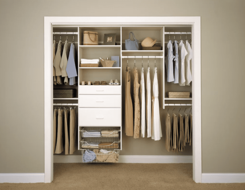Best Modular Closet Kit Easy Track Deluxe Starter System