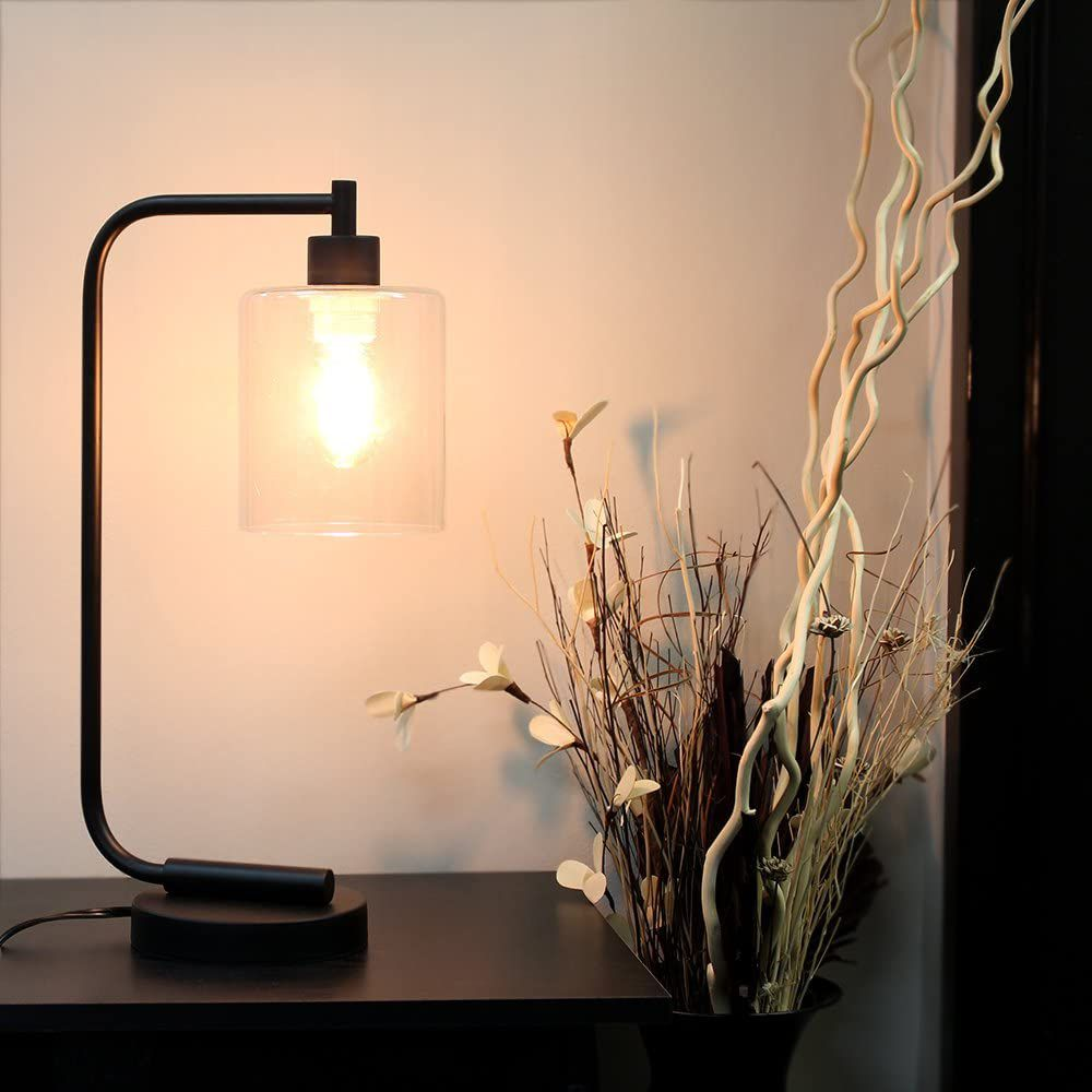 Simple Designs Bronson Industrial Lantern Lamp