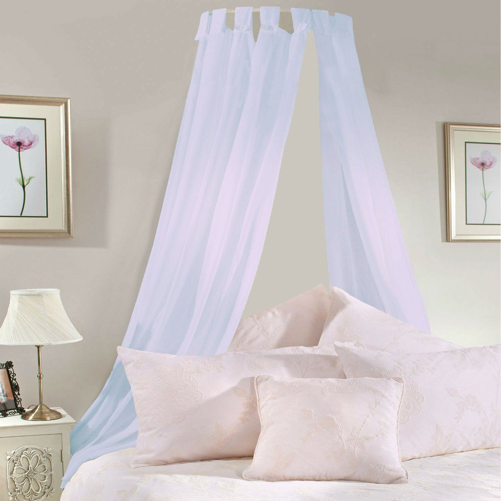 Pale Lilac Voile Bed Canopy Complete Set