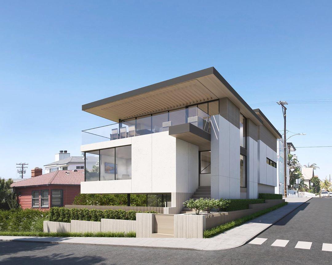 Edificio blanco moderno