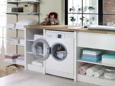 Wood Laundry Room Countertop