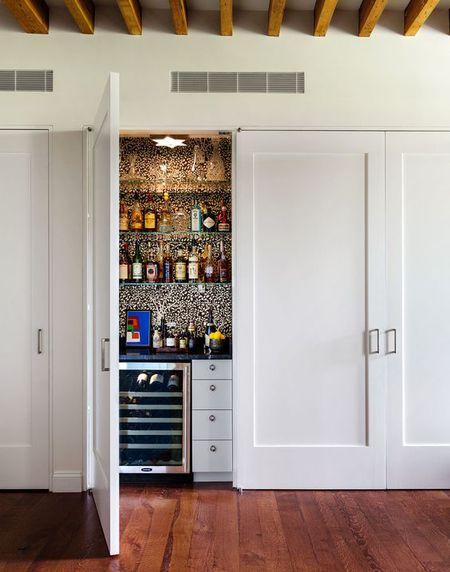Home Bar In A Closet