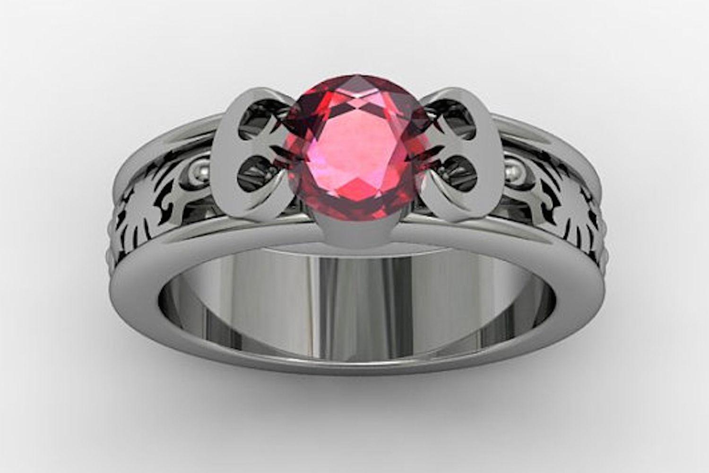 anillo de plata de ley y granate Jasmeen V Jewelers