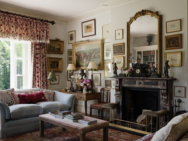 Country Estate in Wales with dramatic window treatments