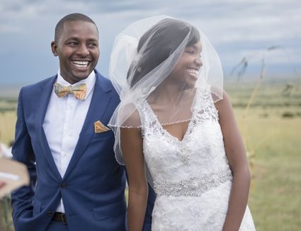 Newlyweds after wedding ceremony