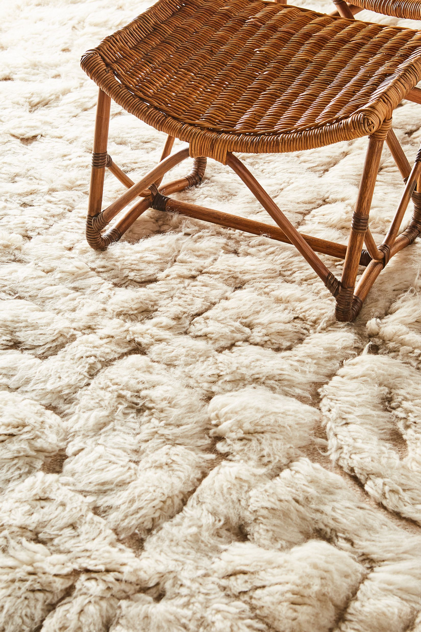 Hand-knotted Camille rug with chair
