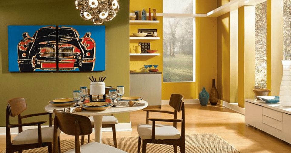 Color Copycat How to Decorate a MidCentury Modern Room