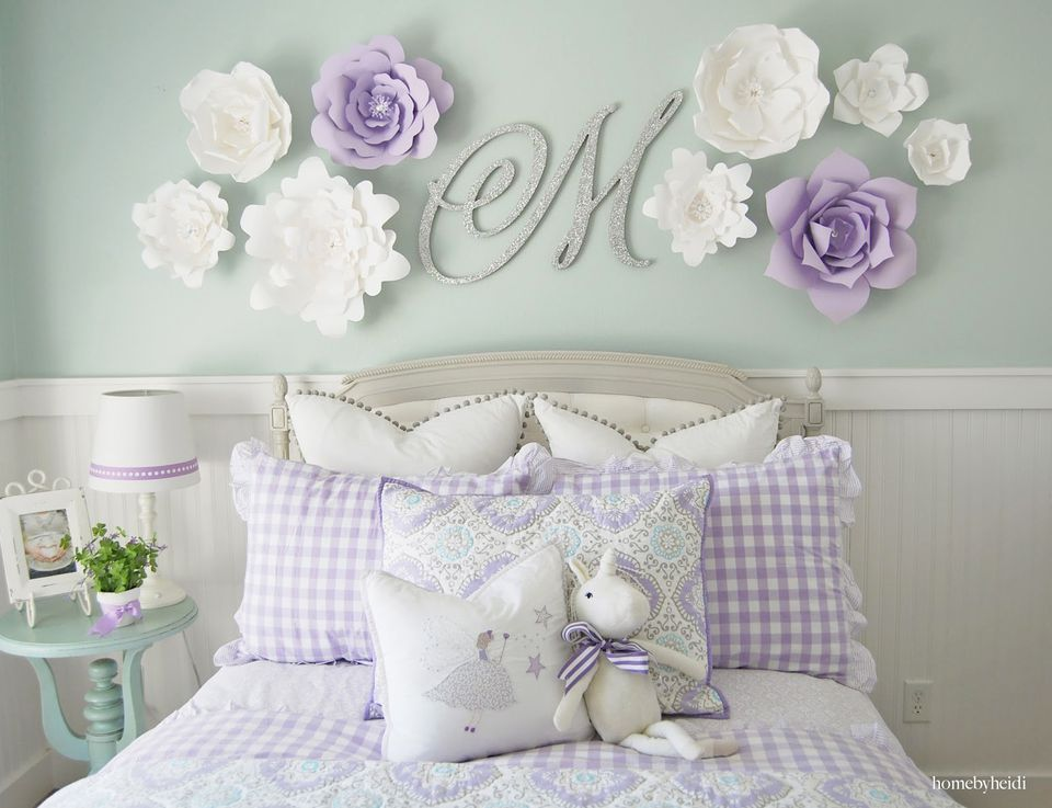24 Wall Decor Ideas for Girls' Rooms on Beautiful:9Ekmjwucuyu= Girls Room Decoration  id=66721